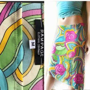 Rampage Asymmetrical midi skirt, multi-color